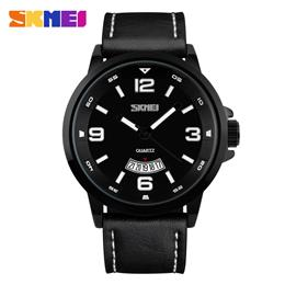 Casual Quartz Watches Men Leather Strap Complete Calendar Watch Wristwat...