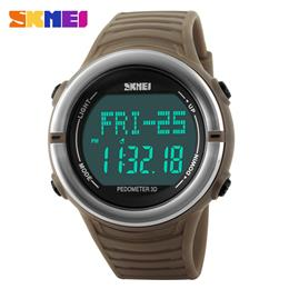 Heart Rate Monitor Sport Watch Men Digital LED Alarm Chronograph Waterpr...
