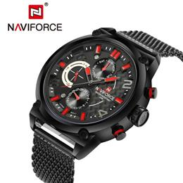Full Steel Men Watches Men's Quartz 24 Hour Date Clock Male Sport Mi...