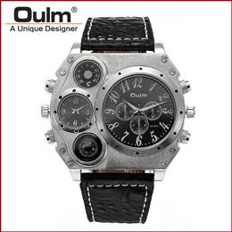 Fashion men WatchDual Movement Sports Military Watch With Compass Thermometer Decoration