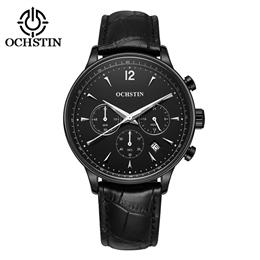 Mens Business Watches Waterproof Chronograph Watch Man Leather Sport Quartz Wrist Watch