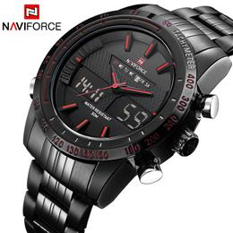 Men Sports Watches Men's Quartz Digital LED Clock Male Full Steel Army Military Wrist Watch
