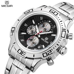Quartz Watch Business Stainless Steel Men Watches Multifunction Chronogr...