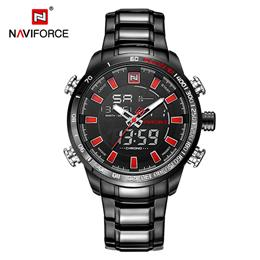 New Men Sports Quartz Full Steel Watches Men's LED Digital Military Waterproof Wrist watch