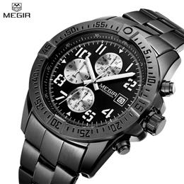 Men Watch Luxury Brand Stainless Steel Chronograph Military Quartz Watch...