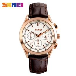 SKMEI Men Quartz Watches Casual Wristwatches 30M Water Resistant Complete Calendar Watch Man