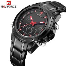 Men Dual Display Watch Waterproof Sport Military Watches LED Digital Wrist watch Date Clock