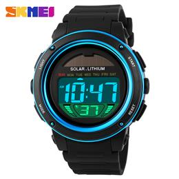 Solar Power Watch Men Sport Watches Digital mens Waterproof Wrist Watch
