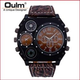 Men's Dual Movement Sports Military Watch With Compass Thermometer Decoration Big Size
