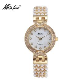 Beautiful Nature Pearl Watch Women Rhinestone Women Dress Watch Fashion Pearl Shell