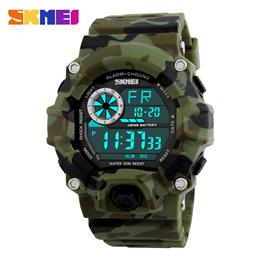 Camouflage Military Digital Watches Men Alarm LED Back Light Shock Sports Wristwatches