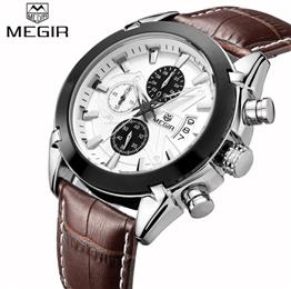 Leather Quartz Male Wristwatch Chronograph Men Watches Top Brand Luxury ...