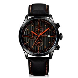 Men Sports Watches Men's Quartz Date Leather Army Military Wrist Watch