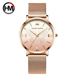 Women Watches Japan Quartz Movement 3D-Butterfly Wristwatches