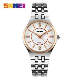 SKMEI Women Quartz Watches Fashion Casual Dress 30M Waterproof Simple Wristwatches