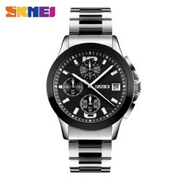 SKMEI Man Business Stopwatch Watches Waterproof Men Quartz Watch Wristwa...