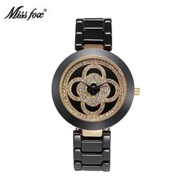 Black Ceramic Watch Women Rhinestone Dress Women Watch Fashion Carnaval Shockproof Waterproof Watch