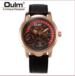 Mechanical hand wind watch Hotsale chinese cheap watches genuine leather belt