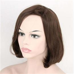"Dark Brown Short Natural straight Synthetic Wig 12"" For Women Female Wigs"