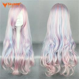Skybird 70 Cm Long Wavy For Women Mix Color Synthetic Cosplay Wigs