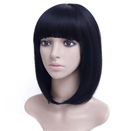 14'' Black Brown Bob Wig Short Synthetic Wigs For Black Women