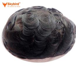 Skybird Brazilian human hair toupee Base Swiss lace or French lace MenToupee Men wigs