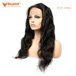 Skybird 8-12inches 360 Lace Frontal Closure Brazilian Body Wave Closure Free Part  Human Hair