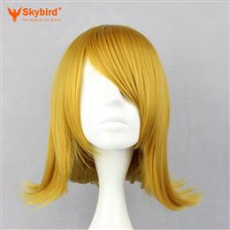 Skybird Cosplay Women's Short Blonde Synthetic Hair Party Full