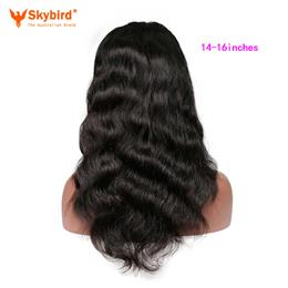 Skybird 14-16 inches Brazilian Full Lace Human Hair Wigs For Women With Baby Hair Remy Human Hair Body Wave Wigs