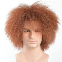 Pixie Cut Men Wig Short Kinky Straight Synthetic Male Wigs With Bang For Male High Temperature