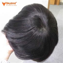 5x8 6x7inch Stock Fine Mono With Skin Around Hair Men Toupee Hair Replacement Men Toupee Free Shipping