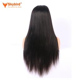 Skybird 18-20 inches Hair 180% Density 360 Lace Frontal Wig Pre Plucked Natural Hairline Straight Brazilian Remy Hair Lace Wigs With Baby Hair