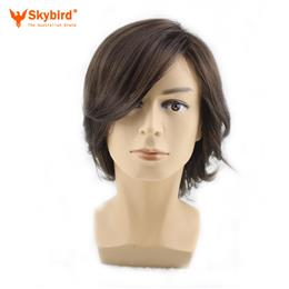 Skybird Short Curly Men Male Cosplay Costome Dark Brown 35 Cm Synthetic...