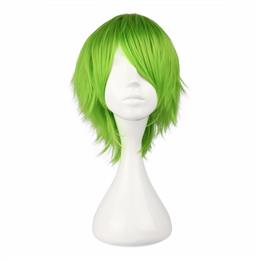 32cm Short Light Green Bob Synthetic Wig Cosplay Wig
