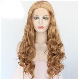 Body Wave Type Heat Resistant Hair Blonde Color Hand Tied Cosplay Perruque Synthetic Lace Front Party Wigs For Women