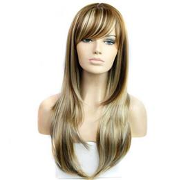 20Inchs Straight Wigs for  Women Piano Color Wigs Synthetic Wig