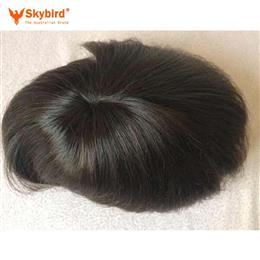7x8inch 7x10 inch Stock Fine Mono With Skin Around Hair Men Toupee Hair Replacement Men Toupee Free Shipping
