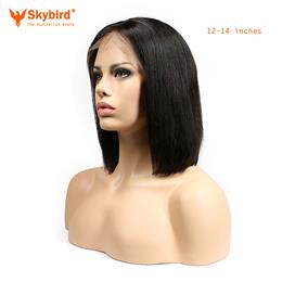 Skybird12-14inches Human Hair Short Bob Wigs For Women Brazilian Remy Hair Lace Front Human Hair Wigs