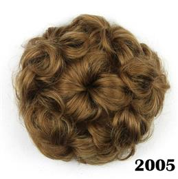 8 Colors Synthetic High Temperature Fiber Curly Flower Hair Chignon Rub...