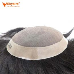 8x10inch 8x11 inch Stock Fine Mono With Skin Around Hair Men Toupee Hair Replacement Men Toupee Free Shipping