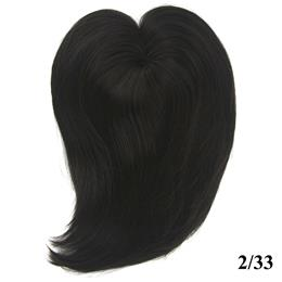 Long High Temperature Fiber Synthetic Hair Toupees Hairpieces Straight Hair Fringe Top Closures for Men and Women