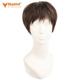Skybird Short Straight Natural Wigs Heat Resistant  Men Elderly Gentleman Synthetic Hair