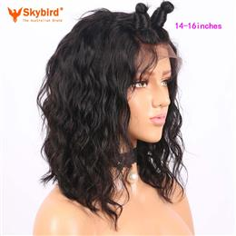 Skybird 14-16 inches Short Lace Front Human Hair Wigs For Women Brazilian Remy Bob Wig With Baby Hair Pre Plucked Hairline