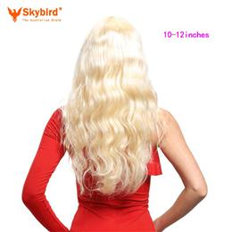 Skybird 10-12 inches Hair Products Body Wave Virgin Hair Pre-Plucked 360...