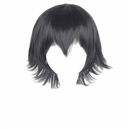 White Cosplay Mixed Color Synthetic Hair Party Men Heat Resistant Wig