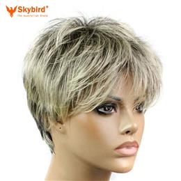 Skybird Short Pixie Cut Style Wig Synthetic Wigs For Women 200g