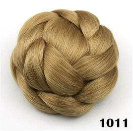 6 Colors High Temperature Fiber Synthetic Hair Pieces Accessories Braided Chignon Hair Bun Donut