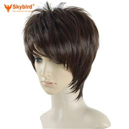 Skybird Silky Straight Full Lace Wigs For Young Men Short Natural Brown ...
