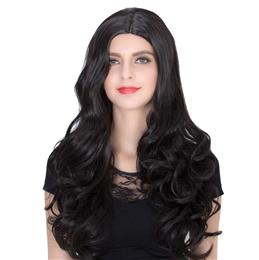 Black Long Curly Wig - High Quality Fascinating Women Long Curly Wig