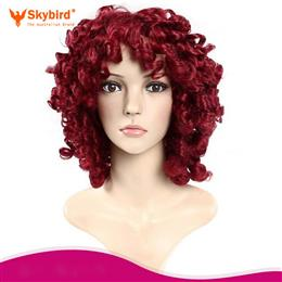 Skybird Curly Wigs For Women Heat Resistant Synthetic Wig 12 inch